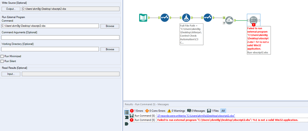 Run Command to delete data from excel sheet - Alteryx Community