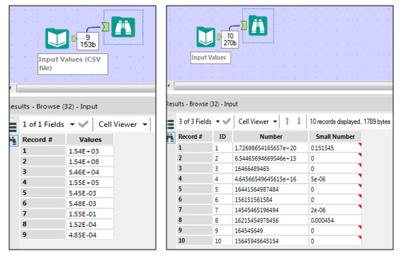 Converting Values From Scientific E Notation Alteryx Community