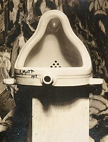 Duchamp's Fountain  (1917), the great-granddaddy of conceptual art.