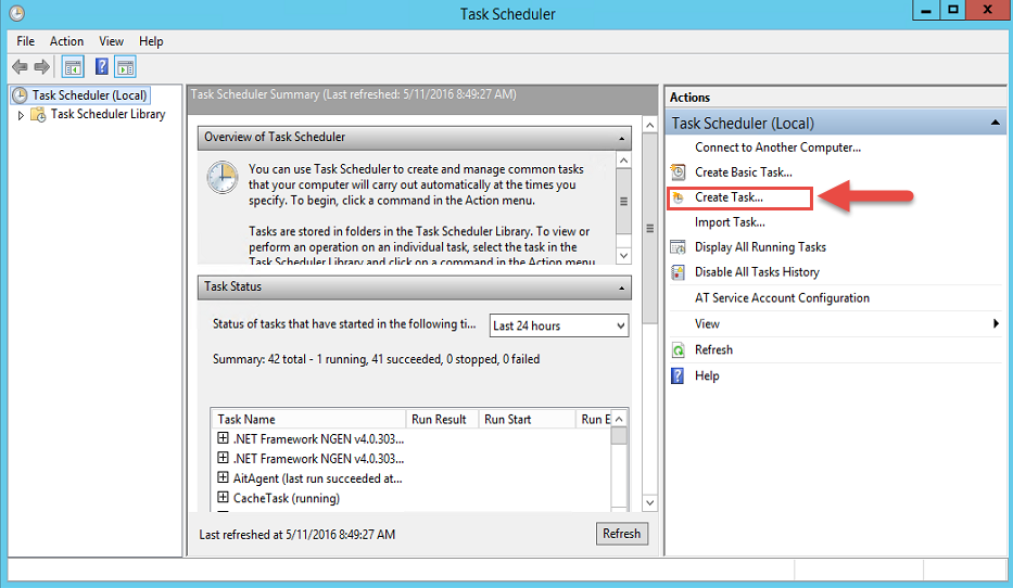 how to create a schedule to backup user files