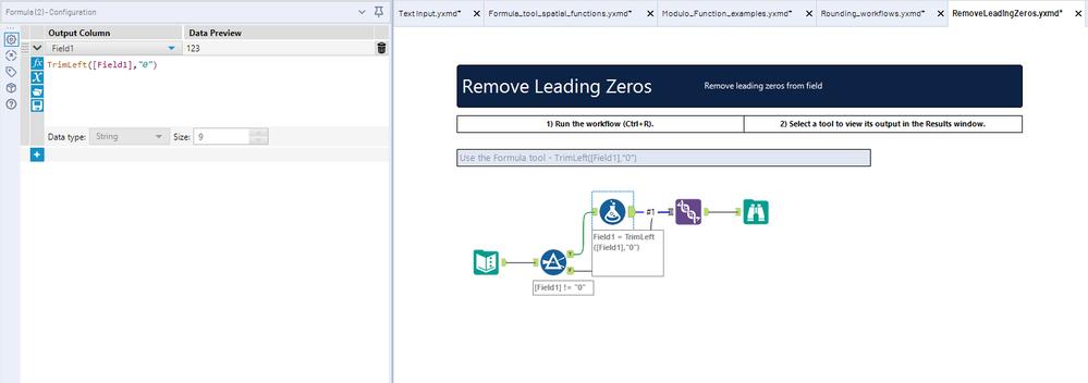 Remove Leading Zero - Alteryx Community