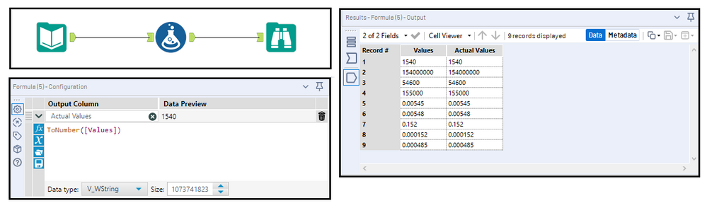 Converting Values from Scientific (E) Notation - Alteryx Community