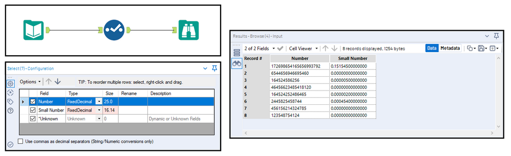 Converting Values from Scientific (E) Notation - Alteryx