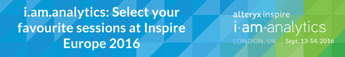 i.am.analytics: Select your favourite sessions at Inspire Europe 2016