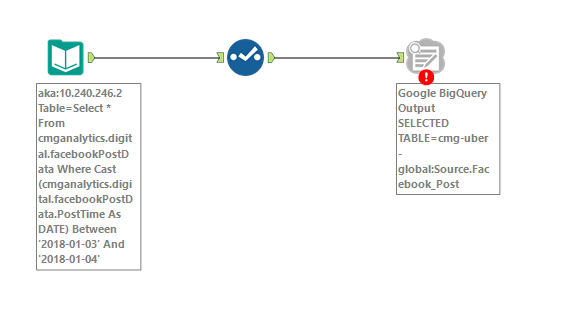 Solved: Google Big Query Output connector not working - Alteryx