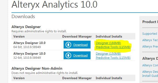 Solved: Offline version of Alteryx installation file - Alteryx Community