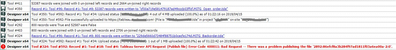 Solved: Publish to Tableau Server Error 400011 on Schedule