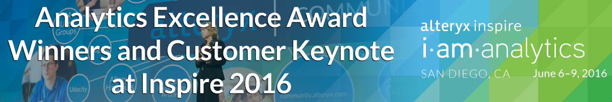 Analytics Excellence Award Winners and Customer Keynote at Inspire 2016