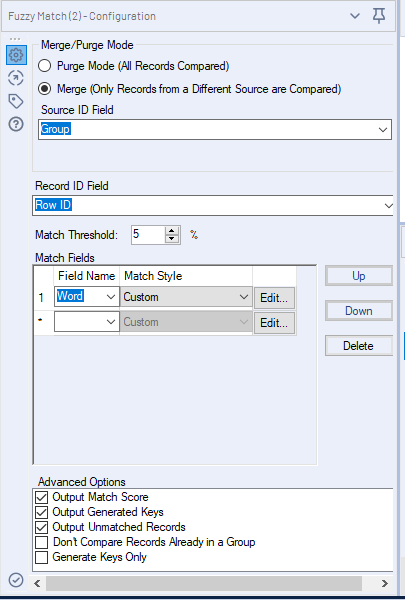 Solved: Fuzzy matching issue - Alteryx Community