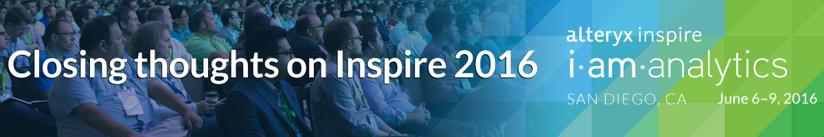 Closing thoughts on Inspire 2016