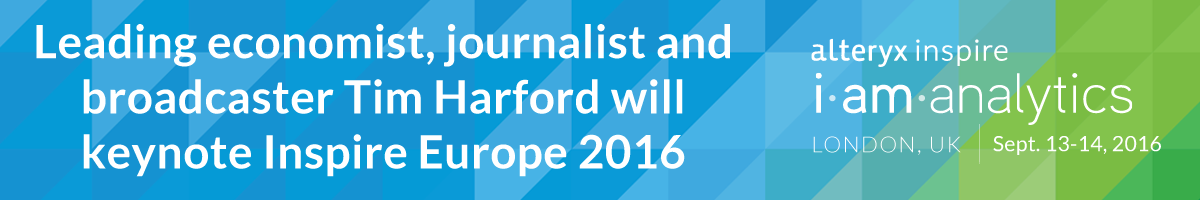 Leading economist, journalist and broadcaster Tim Harford will keynote Inspire Europe 2016