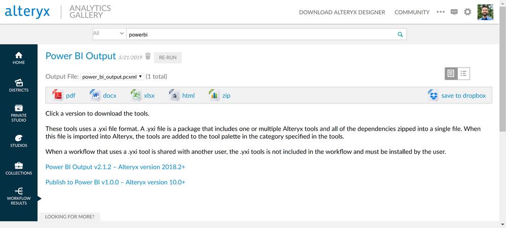 Publish to Power BI tool - Alteryx Community