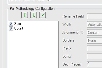 cross tab / pivot not showing sum and count, only