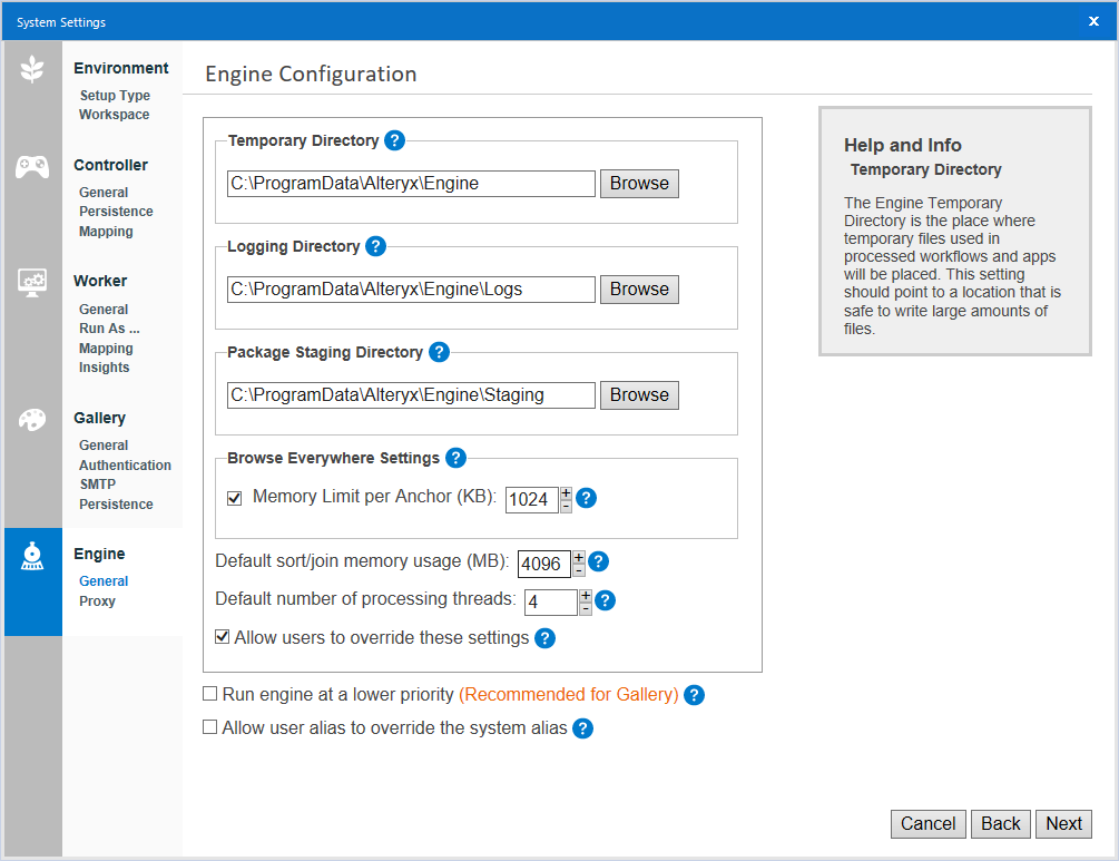 Alteryx Server System Settings Deep Dive - Engine - Alteryx