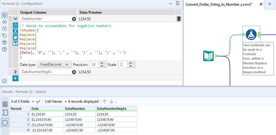 Converting a string with a $ sign into a number - Alteryx Community