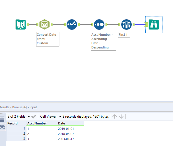 Solved: Pick the record with most recent date - Alteryx
