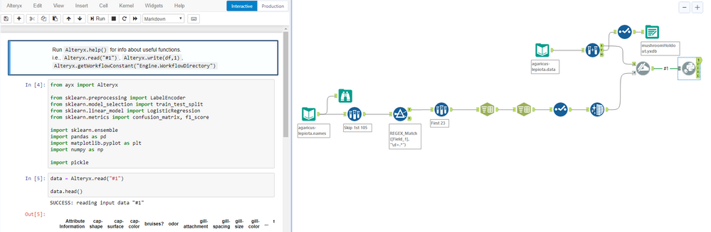 Embedding a Model in a Workflow with a Python Tool - Alteryx