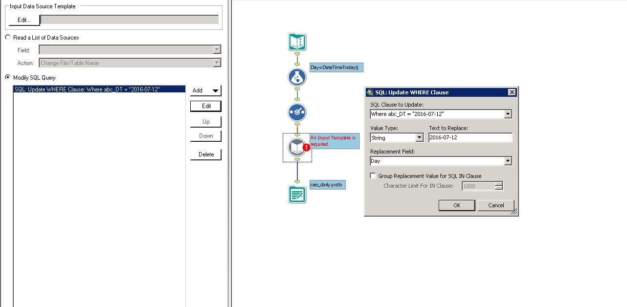 Solved: parameter date at the input - Alteryx Community