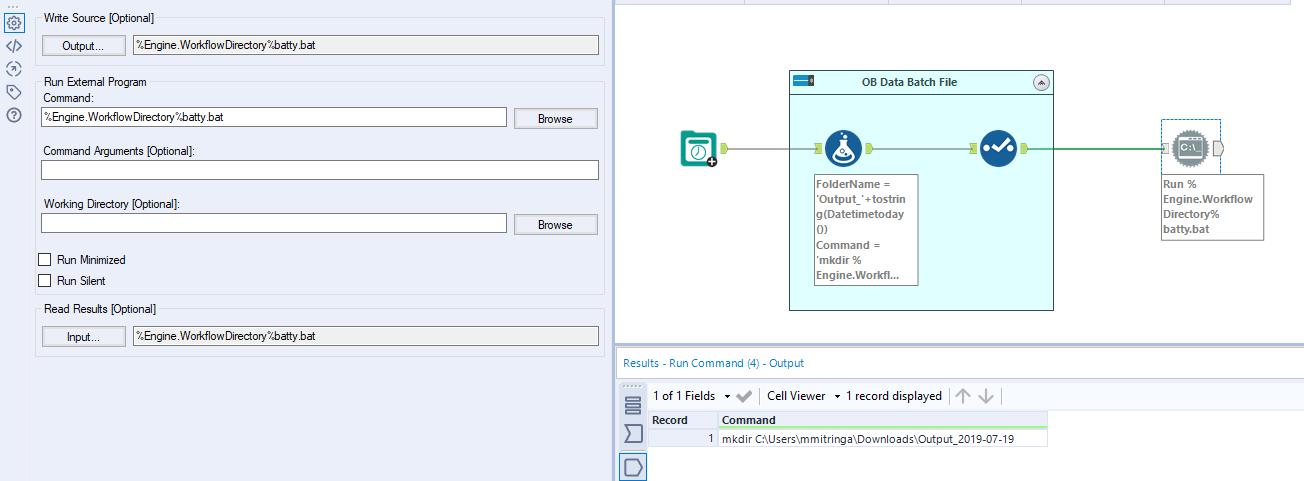 Run Command batch file creating file instead of fi    - Alteryx