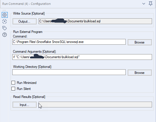 Alteryx SnowSQL macro to quickly load data into Sn