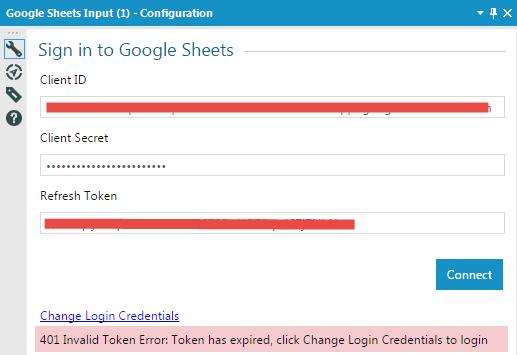 Solved: Google Sheets Input - Problems with Developer Logi