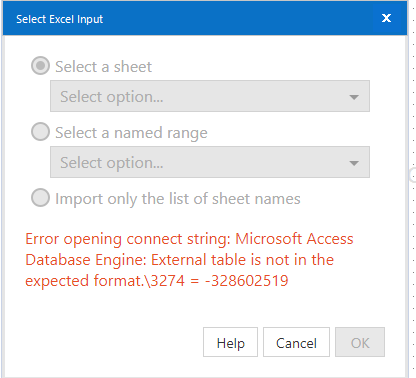 Error(s) when opening XLS files after applying Mic    - Alteryx