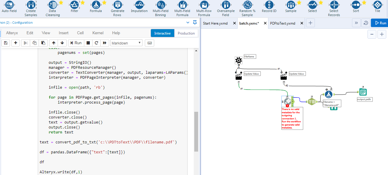 Parsing Text From PDF Documents with Python Code T    - Alteryx