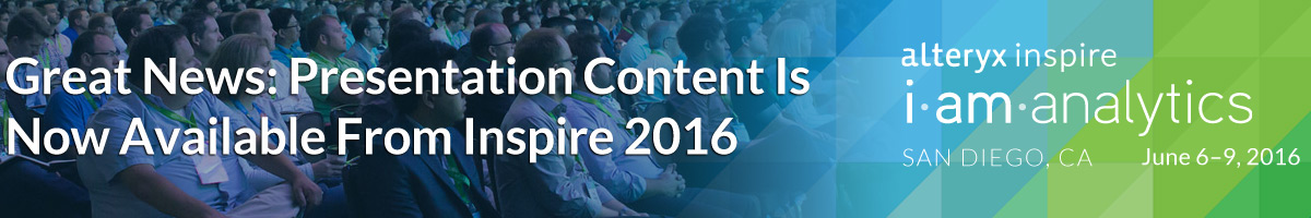 Great News: Presentation Content Is Now Available From Inspire 2016