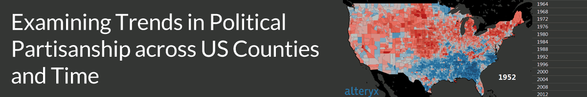Examining Trends in Political Partisanship across U.S. Counties and Time