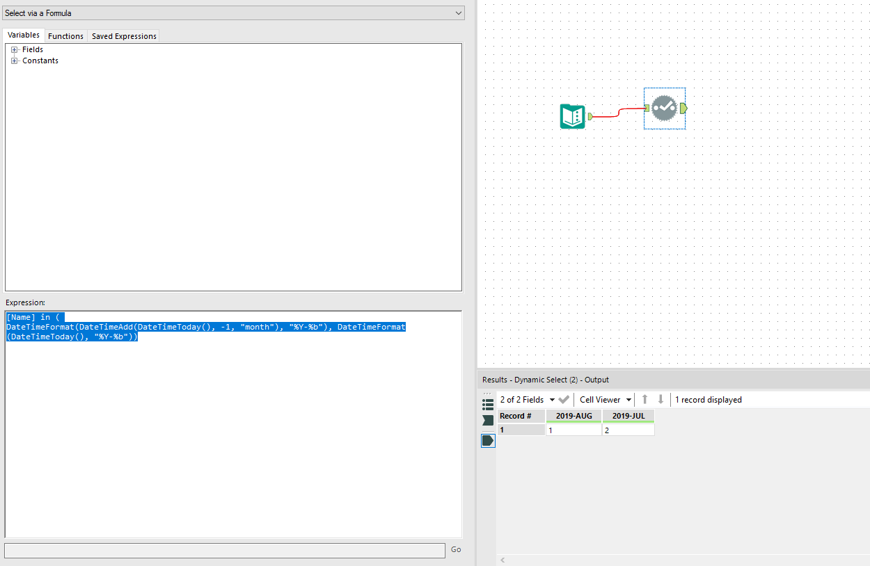 Solved: dynamic select - month CURRENT&PAST - Alteryx Community
