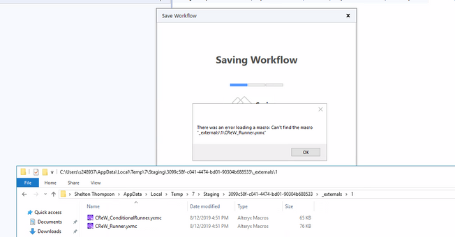 Save Workflow with a crew Macro Not Working - Alteryx Community