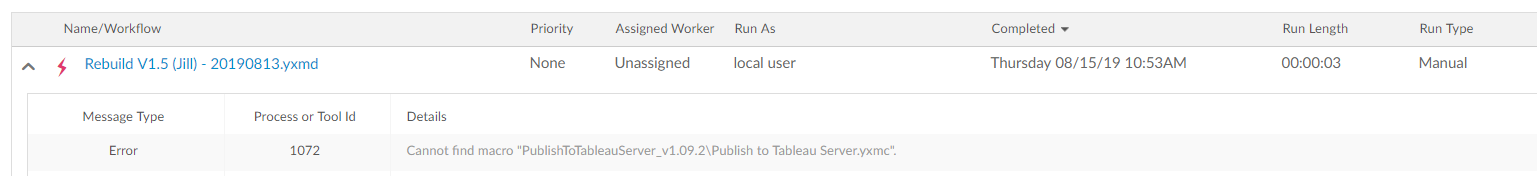 Publish to Tableau Server Tool - Updates for Table