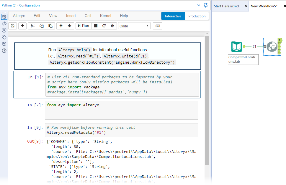 How To: Manage Metadata in the Python tool - Alteryx Community
