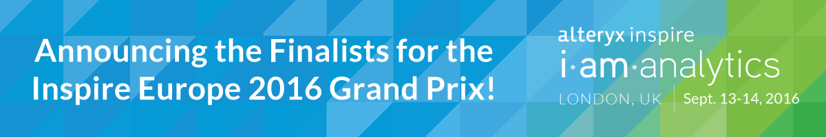 Announcing the Finalists for the Inspire Europe 2016 Grand Prix!