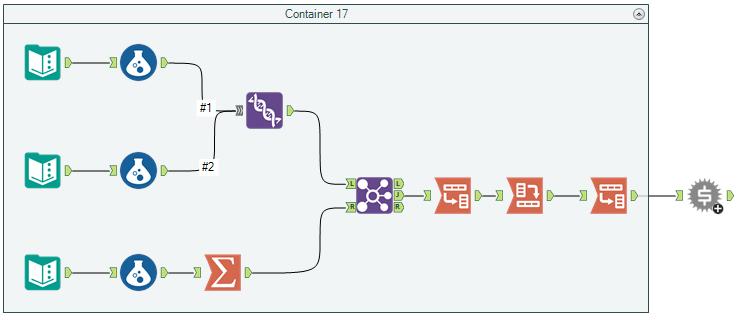 Workflow avec conteneur et macro