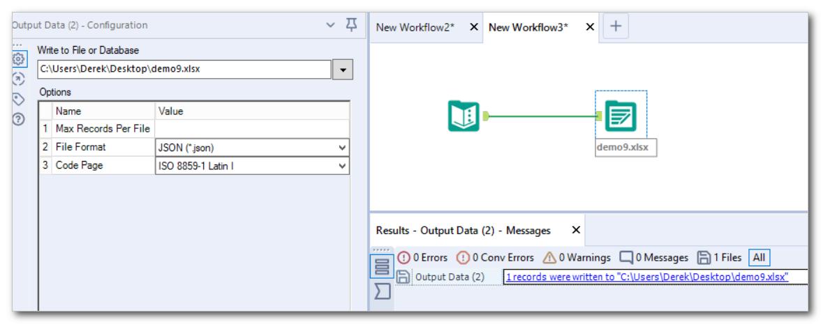 excel file errors when running workflow alteryx - Alteryx