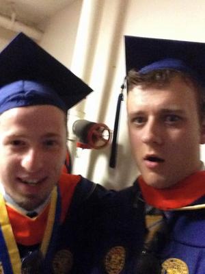 @Ozzie and @AlexKo at graduation