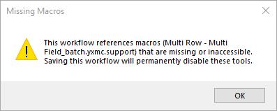 Error message when opening Multi Field_iterative.yxmc