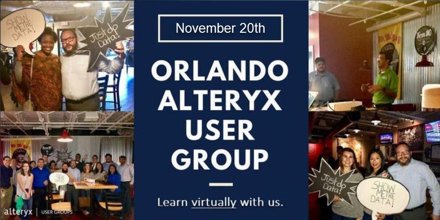 Orlando Alteryx Virtual User Group