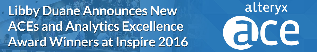 Libby Duane Announces New ACEs and Analytics Excellence Award Winners at Inspire 2016
