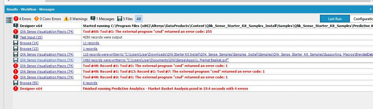 Qlik Starter kit error